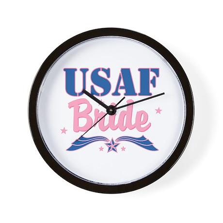 Star USAF Bride Wall Clock
