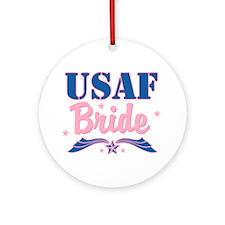 Star USAF Bride Ornament (Round)