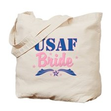 Star USAF Bride Tote Bag