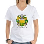 Artigues Family Crest Women's V-Neck T-Shirt