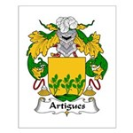 Artigues Family Crest Small Poster
