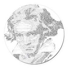 Beethoven Round Car Magnet