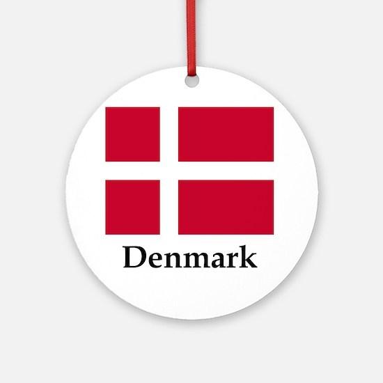 Denmark Flag Round Ornament