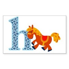 H for Horse Decal