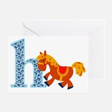 H for Horse Greeting Card