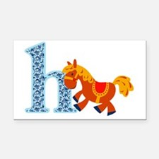 H for Horse Rectangle Car Magnet