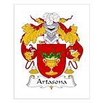 Artasona Family Crest Small Poster