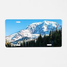 Mt. Rainier Aluminum License Plate