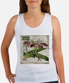 vintage french botanical orchid Tank Top