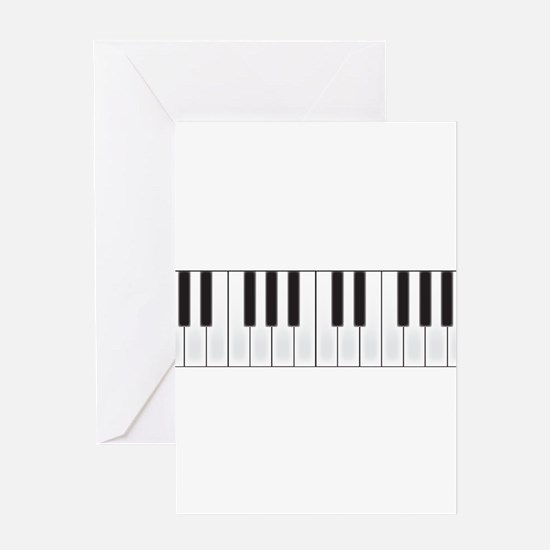 Piano Keys Greeting Cards