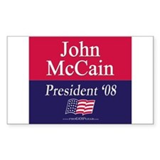 """""""John McCain 2008"""" Rectangle Decal"""