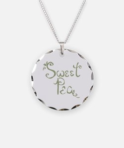 Sweet Pea Fun Quote Necklace
