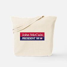 """""""John McCain for President"""" Tote Bag"""