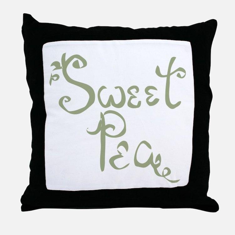 Sweet Pea Fun Quote Endearment Throw Pillow