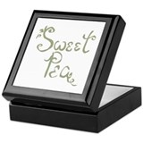 Sweet pea Square Keepsake Boxes