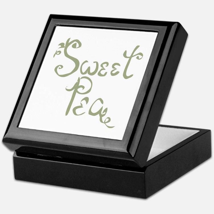 Sweet Pea Fun Quote Endearment Keepsake Box