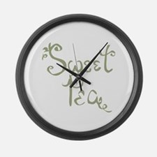 Sweet Pea Fun Quote Endearment Large Wall Clock