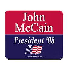 """""""John McCain for President"""" Mousepad"""
