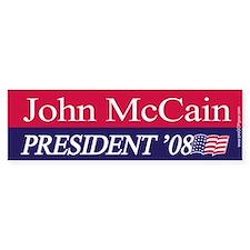 """John McCain for President"" Bumper Bumper Bumper Sticker"