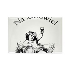 Funny Wine drinker Rectangle Magnet (10 pack)