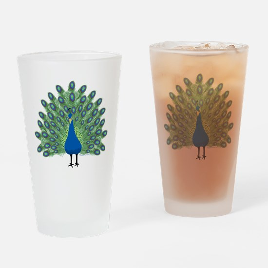 Peacock Drinking Glass