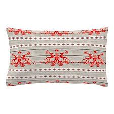 nordic christmas pattern reindeer Pillow Case