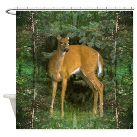 Whitetail Deer Shower Curtain By Listing Store 204606
