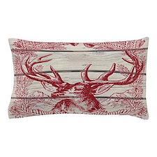 merry christmas rustic deer Pillow Case