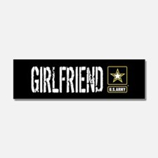 U.S. Army: Girlfriend (Black) Car Magnet 10 x 3