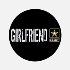 U.S. Army: Girlfriend (Black) Button