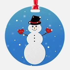 I Love You More Snowman Ornament