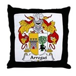 Arregui Family Crest Throw Pillow