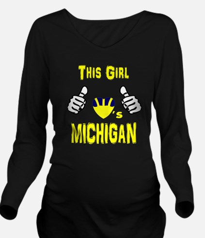 Cute College Long Sleeve Maternity T-Shirt