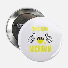 """Unique Michigan wolverines 2.25"""" Button"""