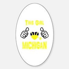 Cute Michigan wolverines Decal