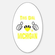 Cute Michigan wolverines Sticker (Oval)