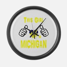 Unique Michigan wolverines Large Wall Clock