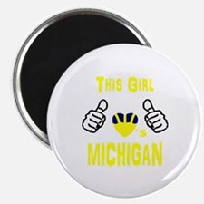 Cute Michigan wolverines Magnet