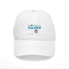 My Heart Belongs To A Soldier Baseball Cap