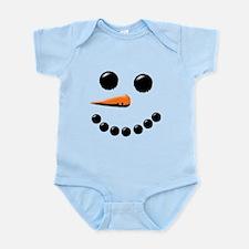 Happy Snowman Face Body Suit