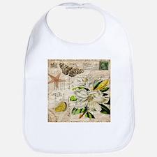 french botanical white lily Bib