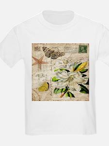 french botanical white lily T-Shirt