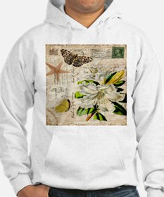 french botanical white lily Hoodie