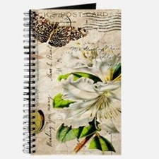 french botanical white lily Journal