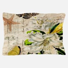 french botanical white lily Pillow Case