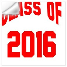 Class of 2016 (red) Wall Decal
