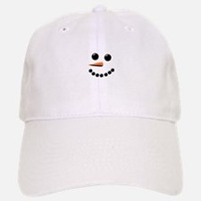 Happy Snowman Face Baseball Baseball Cap