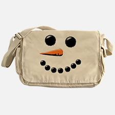 Happy Snowman Face Messenger Bag