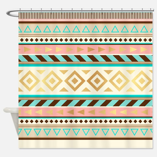 Trendy Tribal Shower Curtain