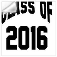 Class of 2016 (black) Wall Decal